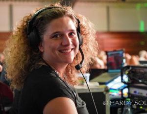 Tanja Mayer bei der Show 2018 (Koordinatiorin Bühnenvideos, Licht und Ton)